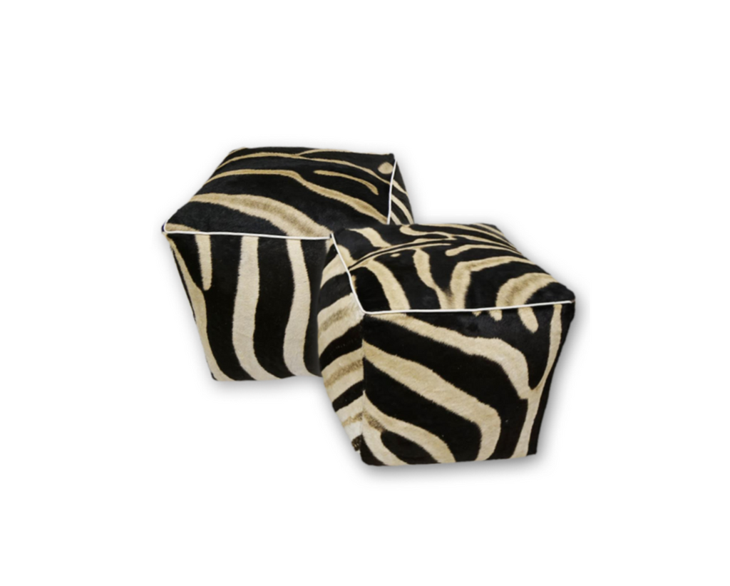Zebra Ottoman - Cube - Choice of Size