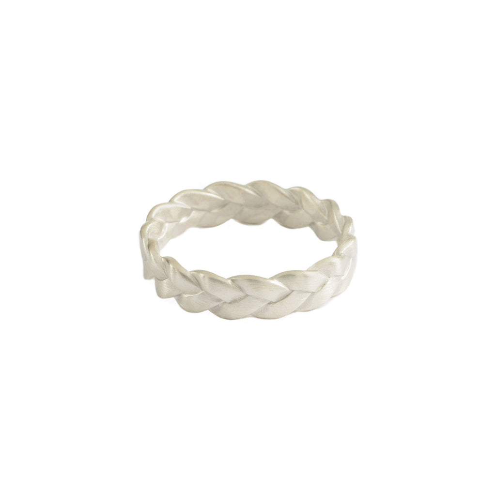 Classic Plait Ring in Sterling Silver Matte
