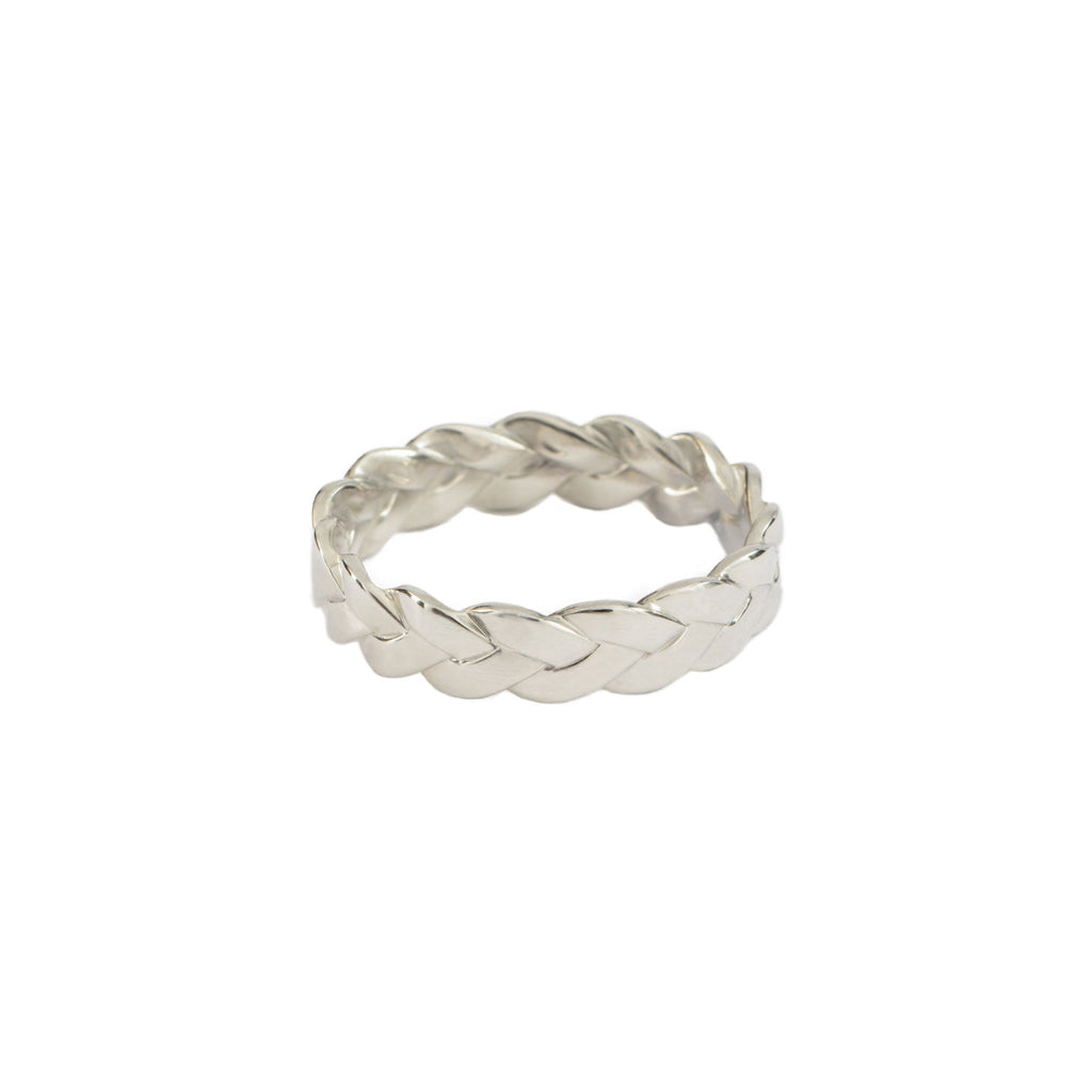Classic Plait Ring in Sterling Silver Satin Polish