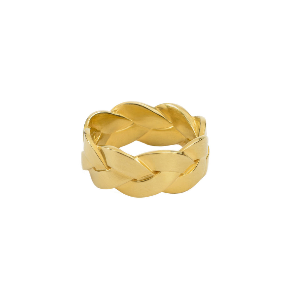 Ampio Plait Ring in 18K Yellow Gold Satin Polish