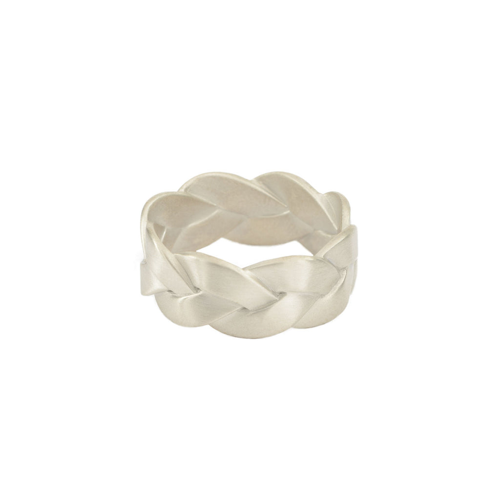 Ampio Plait Ring in Sterling Silver Matte