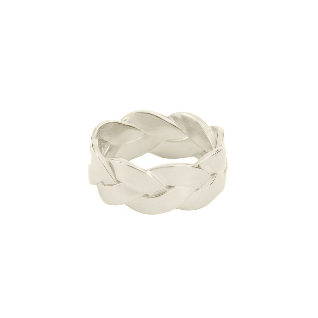 Ampio Plait Ring in Sterling Silver Satin Polish