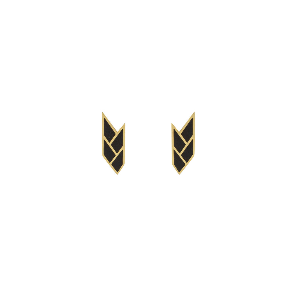 Osiris Stud 18K Gold in Black