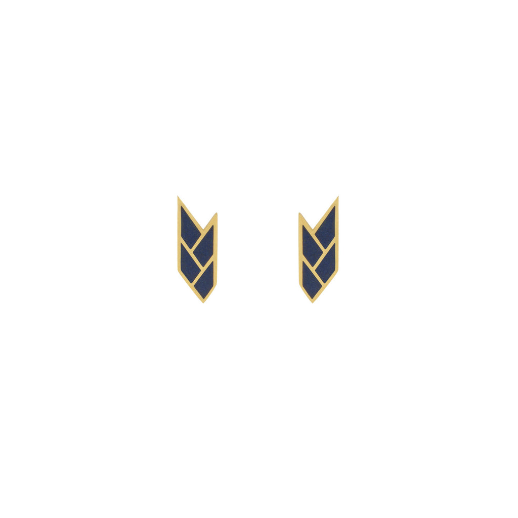 Osiris Stud 18K Gold in Egyptian Blue