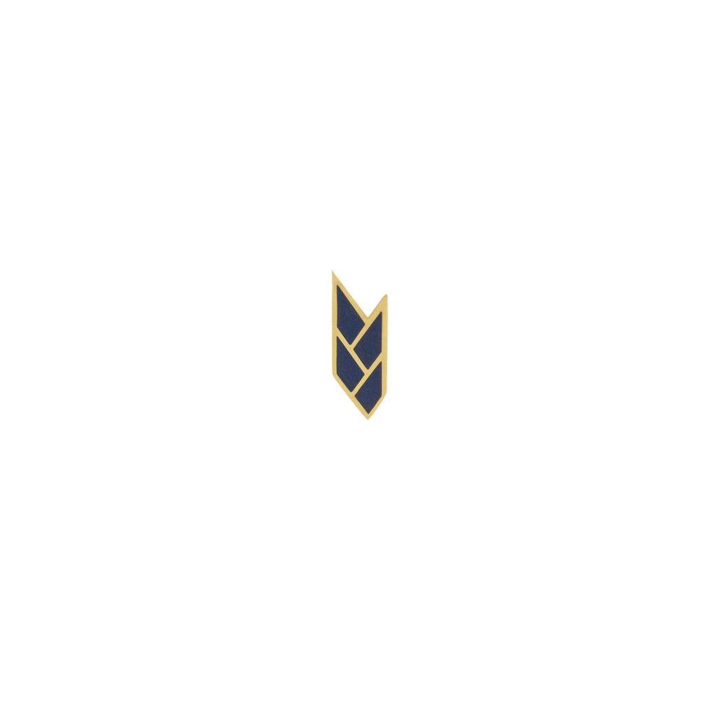Osiris Stud Single 18K Gold in Egyptian Blue