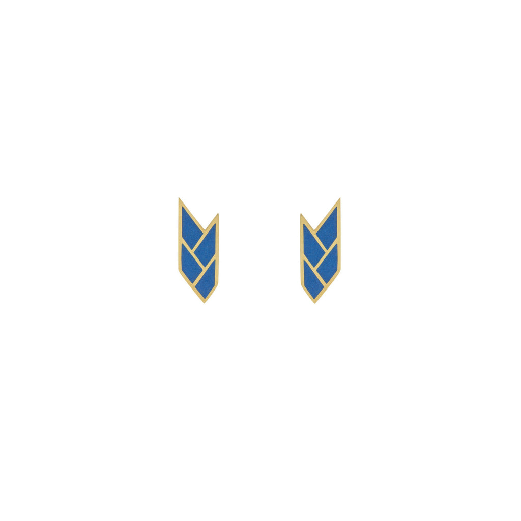 Osiris Stud 18K Gold in Lapis