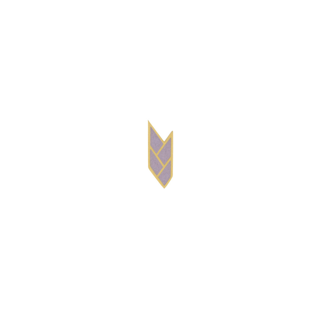 Osiris Stud Single 18K Gold in Mauve