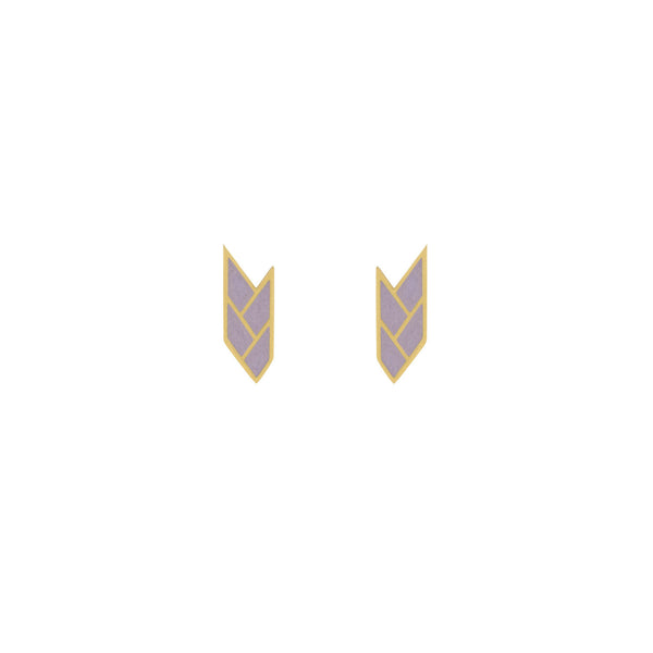 Osiris Stud 18K Gold in Mauve