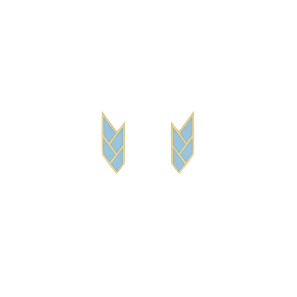 Osiris Stud 18K Gold in Sky