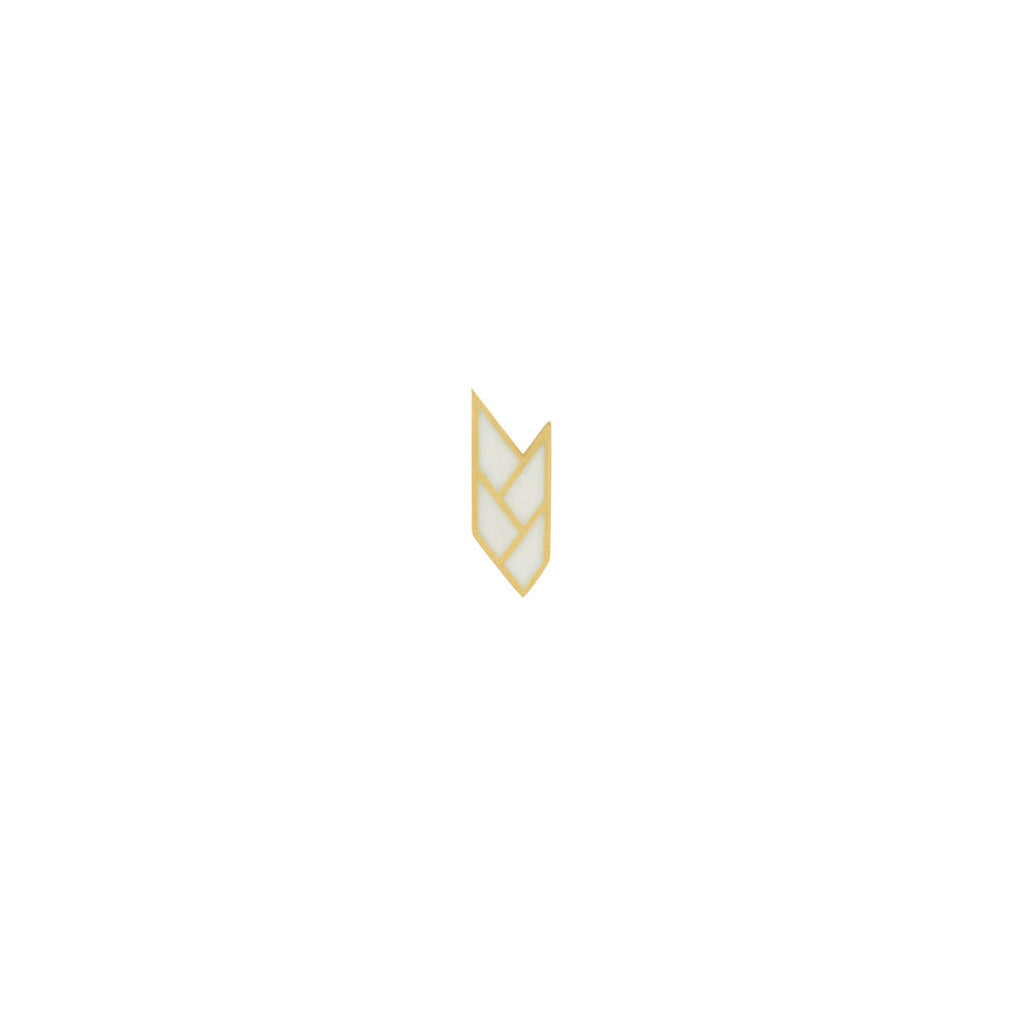 Osiris Stud Single 18K Gold in White
