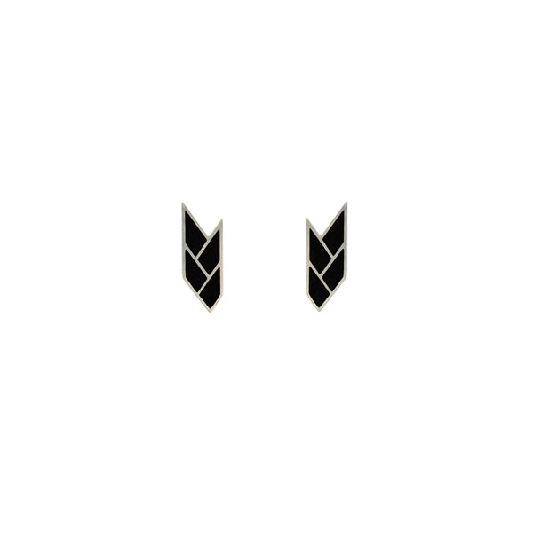Osiris Stud Sterling Silver in Black
