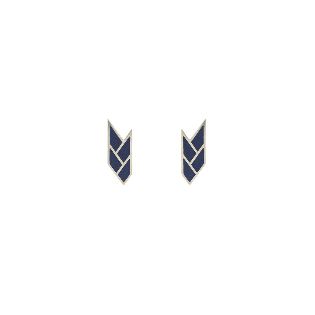 Osiris Stud Sterling Silver in Egyptian Blue