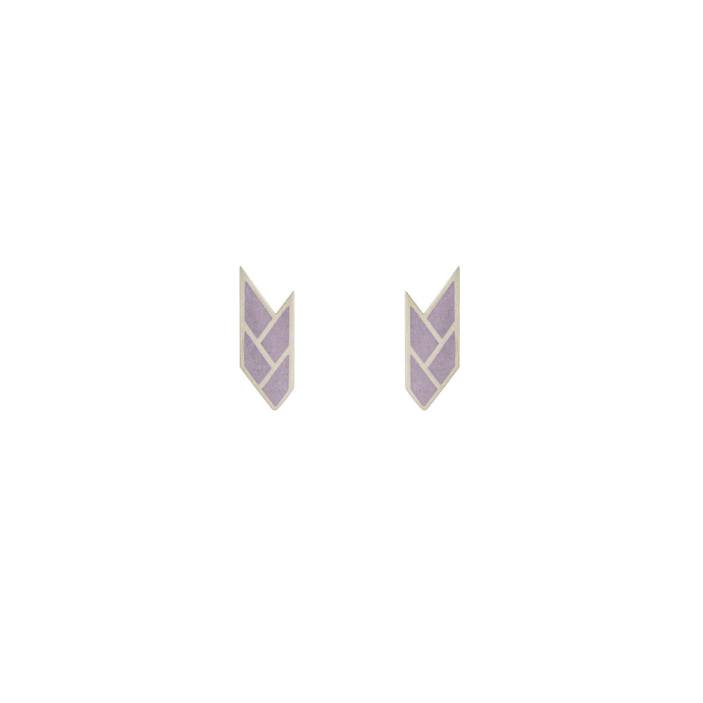 Osiris Stud Sterling Silver in Mauve