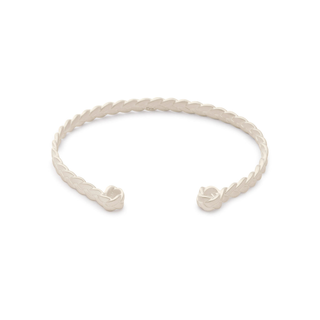 Sterling Silver Classic Plait Cuff in matte finish
