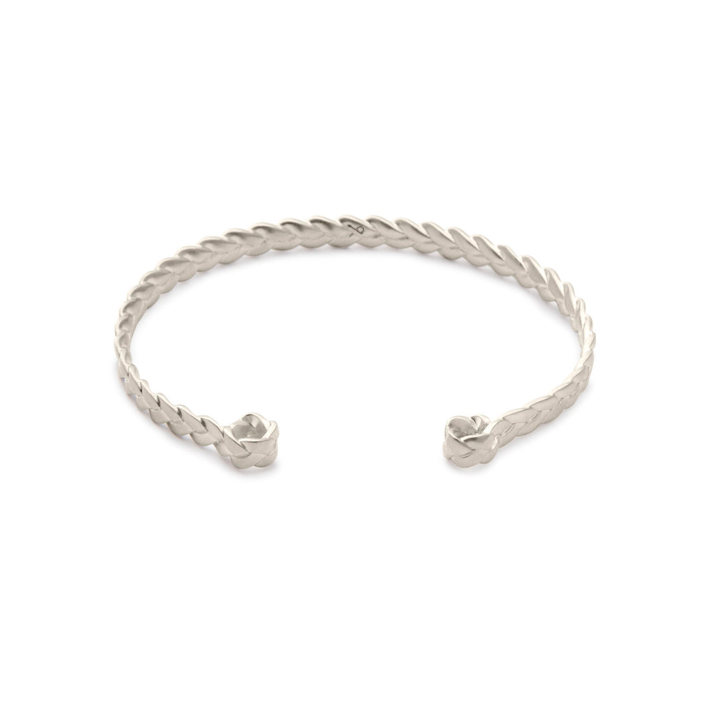 Sterling Silver Classic Plait Cuff in satin polish