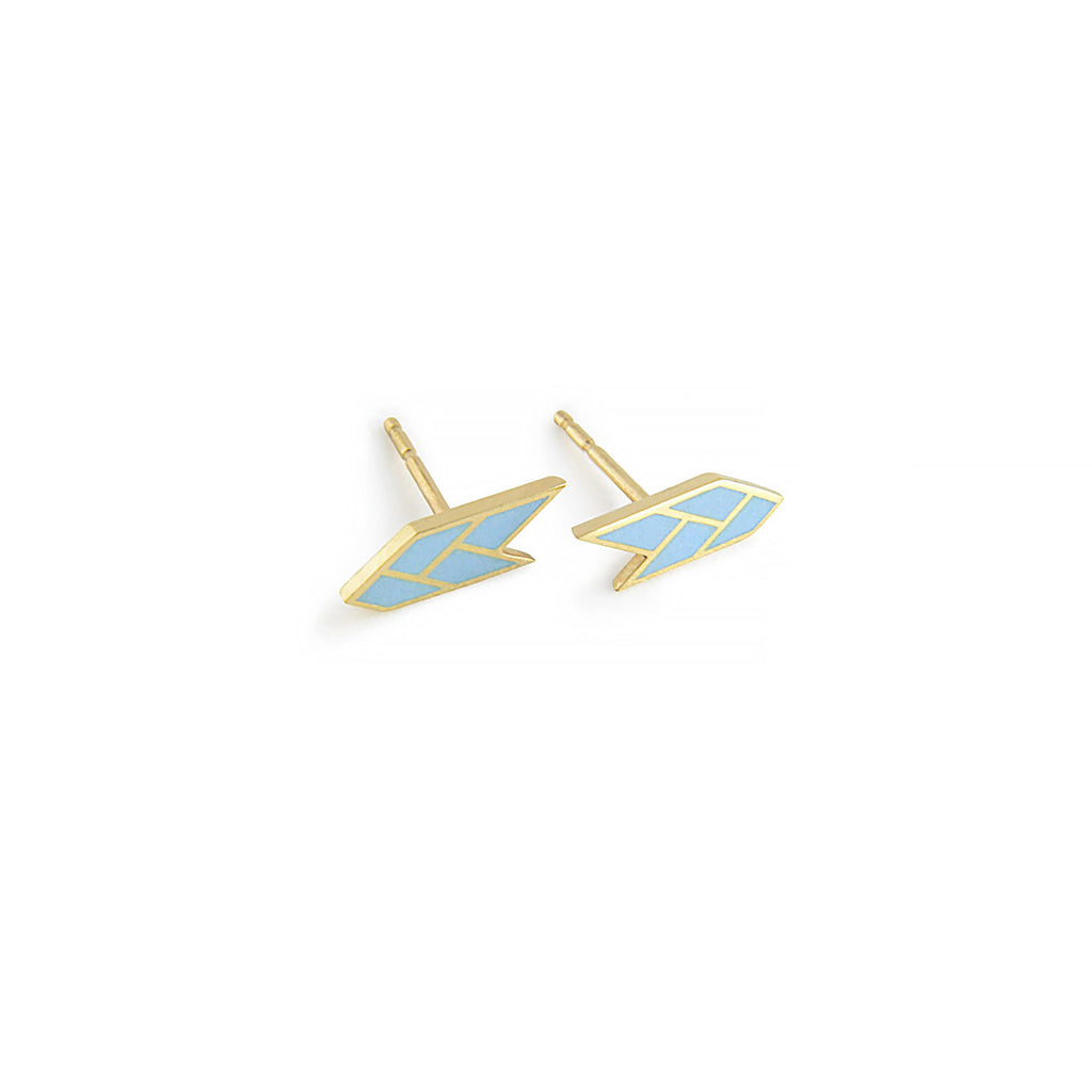 Osiris Stud 18K Gold in Sky Side Detail