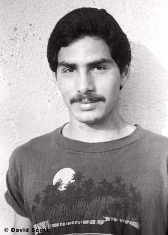 A young Jesse Martinez, image by David Scott
