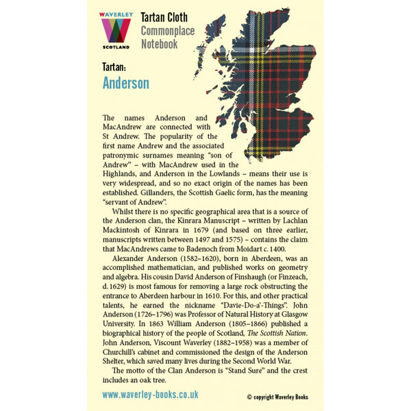 Tartan Cloth Notebook - Anderson