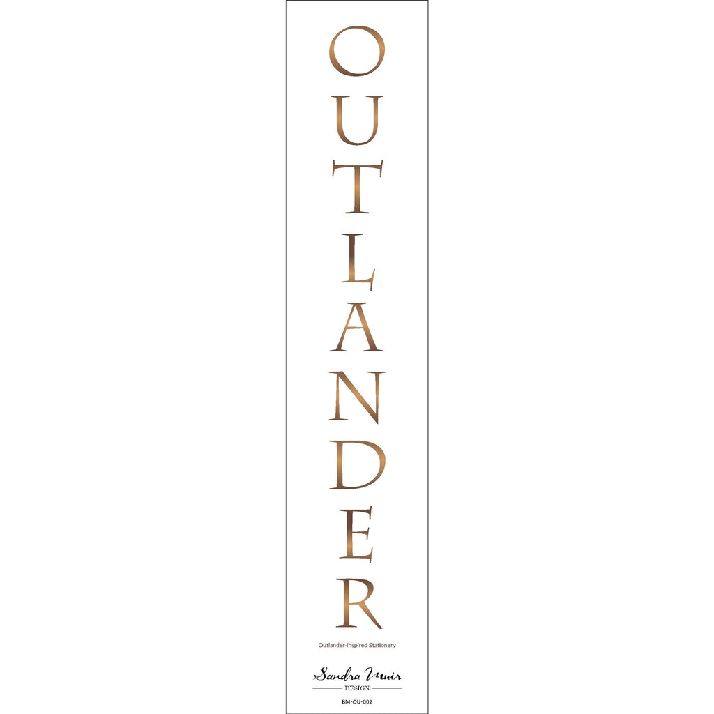 Outlander-inspired Bookmark: Outlander