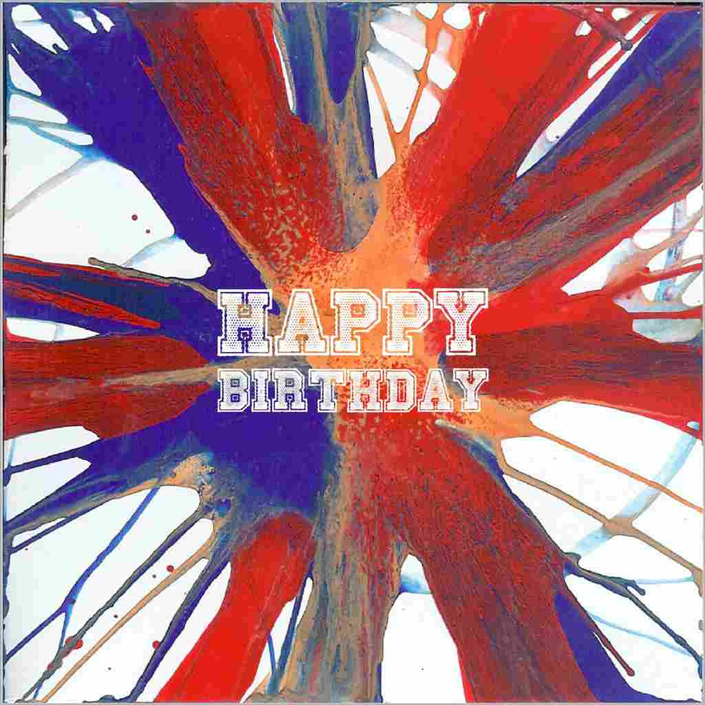 Birthday greeting card featuring a print of an original painting by Sandra Muir