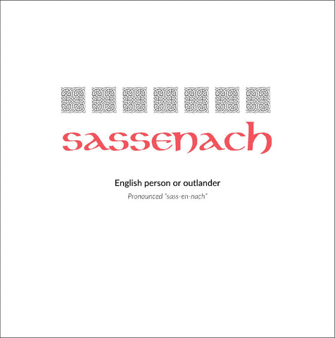 Gaelic Phrases Greeting Card - sassenach