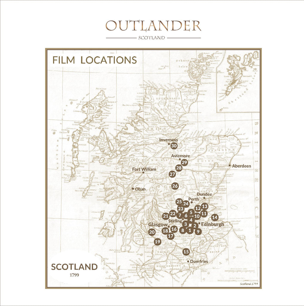 Outlander-inspired Greeting Card of Outlander Scotland Film Locations