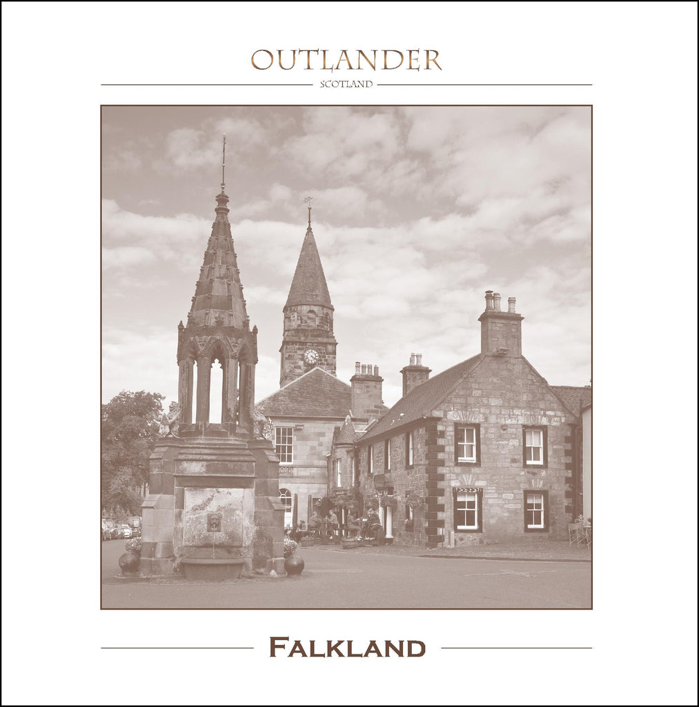 Outlander-inspired Greeting Card of Outlander Film Locations - Falkland