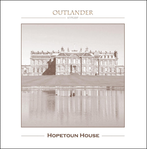 Greeting Card of Outlander Film Locations - Hopetoun House
