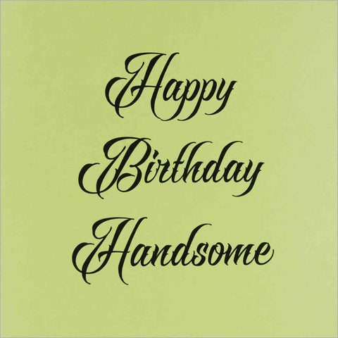 Birthday greeting card with two-tone green design