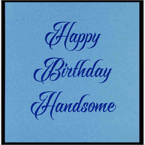 Birthday greeting card with blue-on-blue design