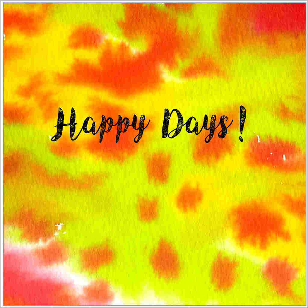 General greeting card based on an original yellow and orange watercolour design
