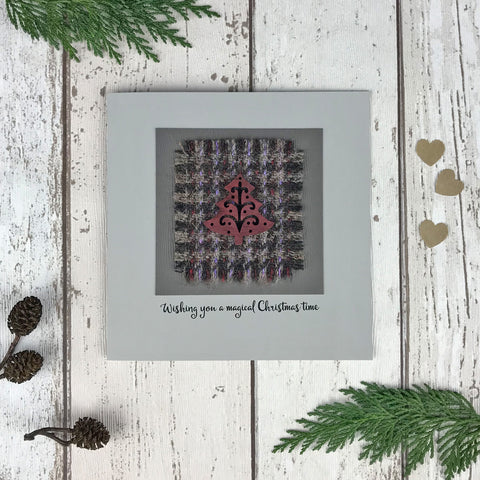 Luxury Harris Tweed Christmas Card