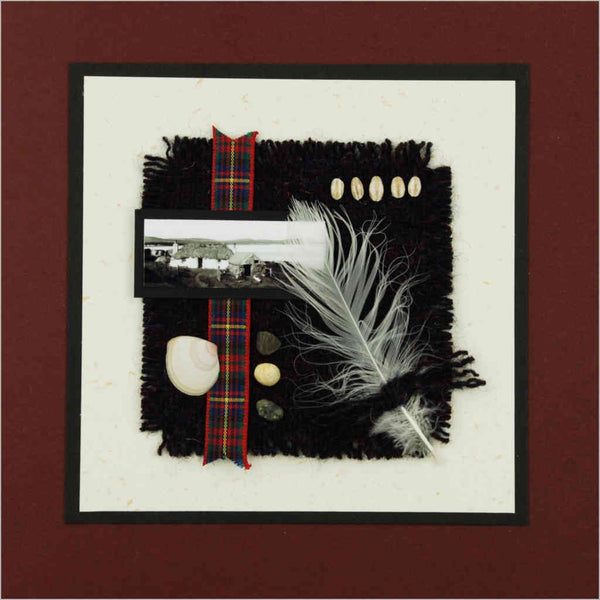 Genuine Harris Tweed Scottish Hand-made Greeting Card