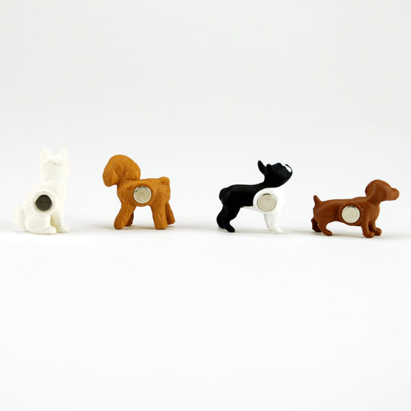 Mini magnet set dogs by Midori from Japan