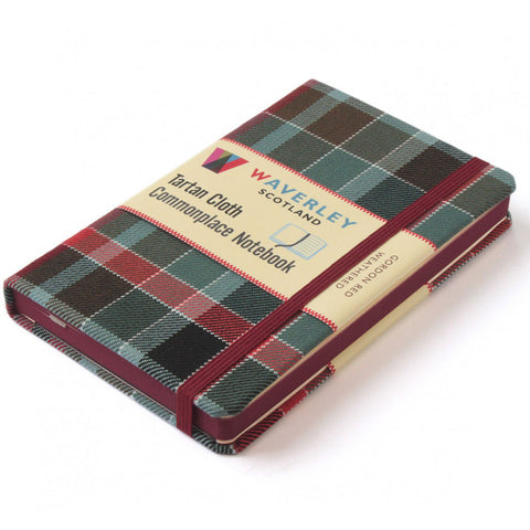 Tartan Cloth Commonplace Notebook in Gordon Red Weathered Tartan from Waverley Books