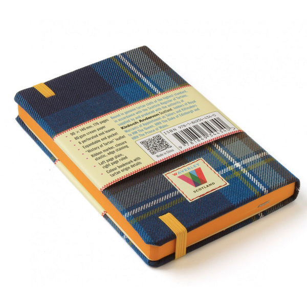 Tartan Cloth Commonplace Notebook in Holyrood Tartan from Waverley Books