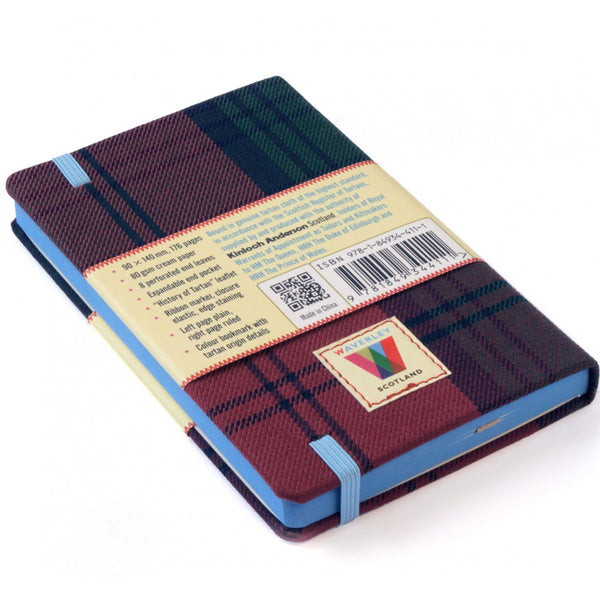 Tartan Cloth Commonplace Notebook in Lindsay Tartan from Waverley Books