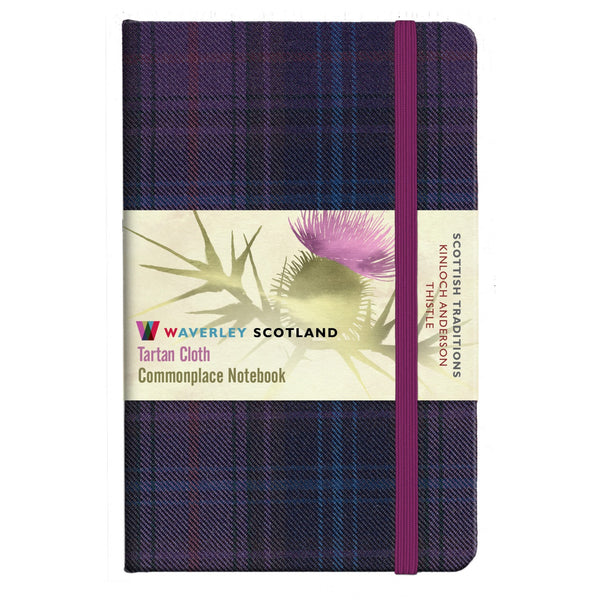 Tartan Cloth Notebook - Thistle