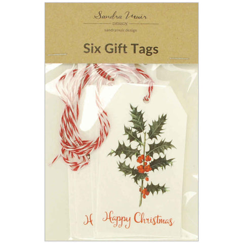 Set of 6 Holly & Berries Gift Tags