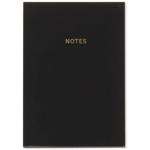 Rich Black Soft-Touch A5 Notebook