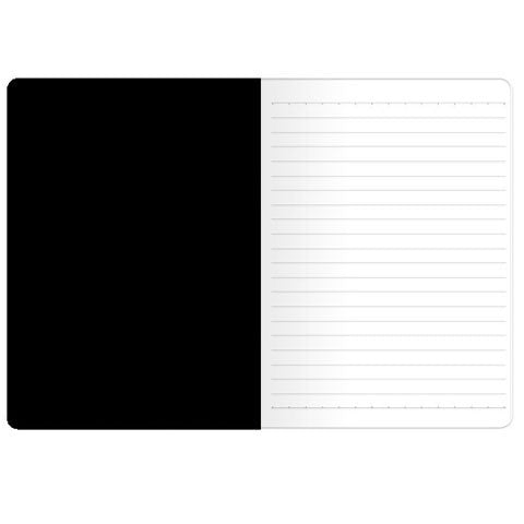 Black Onyx Polka, A5 Notebook