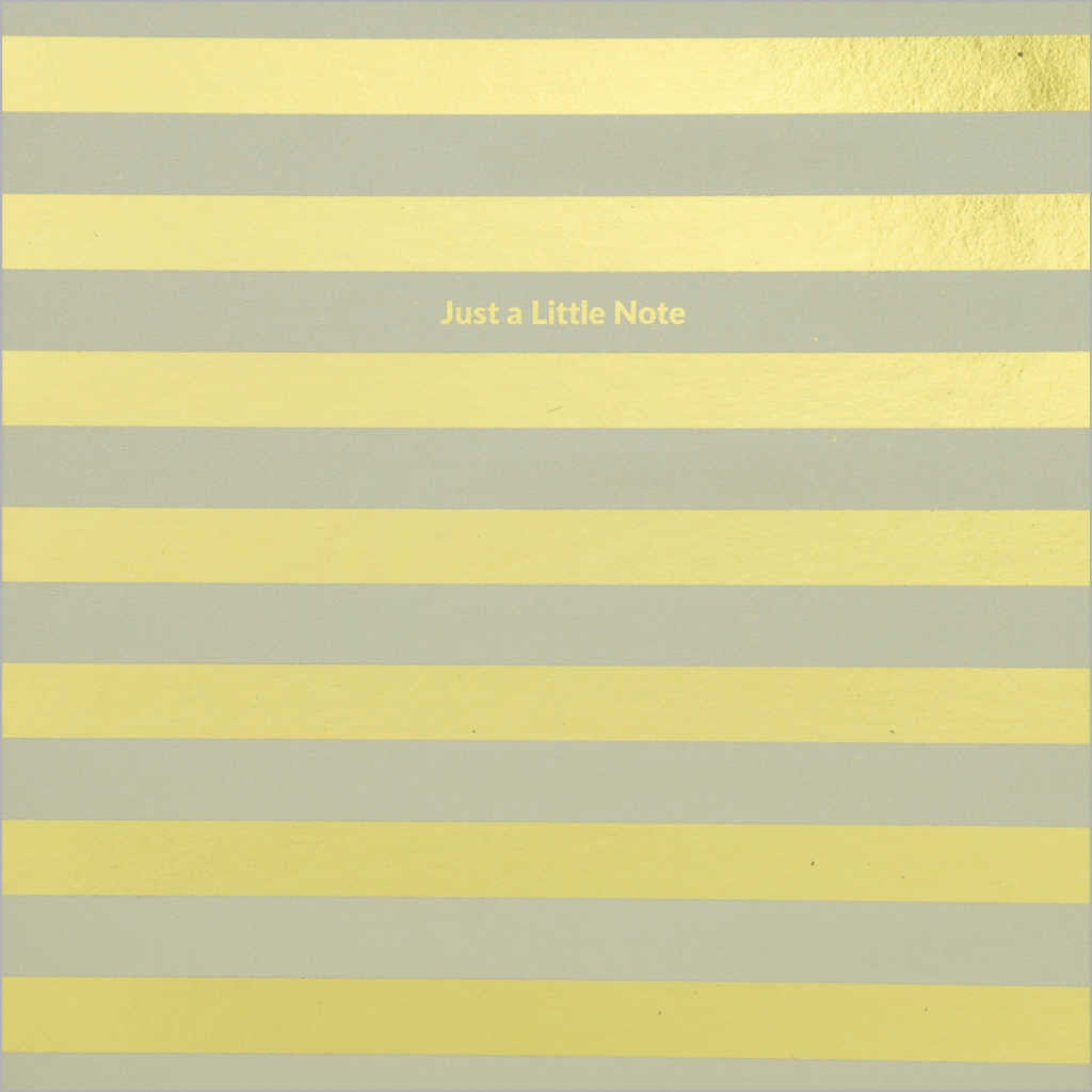 General greeting card featuring metallic gold stripes on pearlescent cream card
