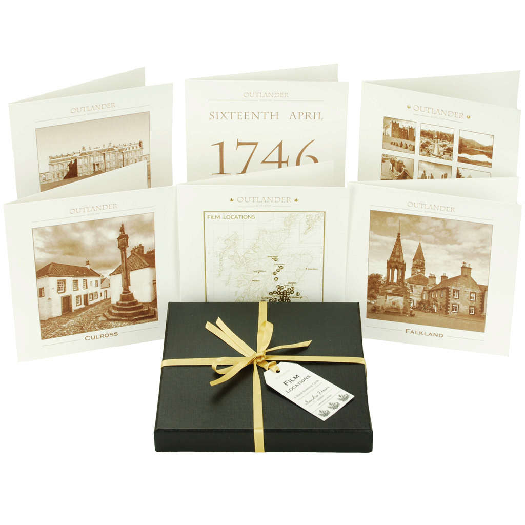 Outlander box set film location stationery greeting cards Made in Scotland