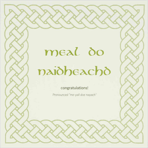 Outlander Jamie Claire box set stationery Gaelic phrase greeting card Meal do naidheachd, made in Scotland