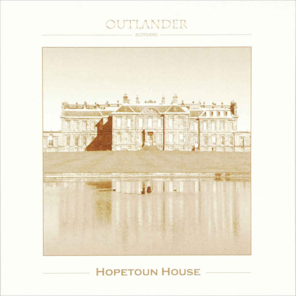 Outlander box set film location greeting cards Hopetoun House