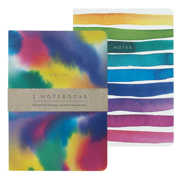 A5 Watercolour Notebooks, Set of 2