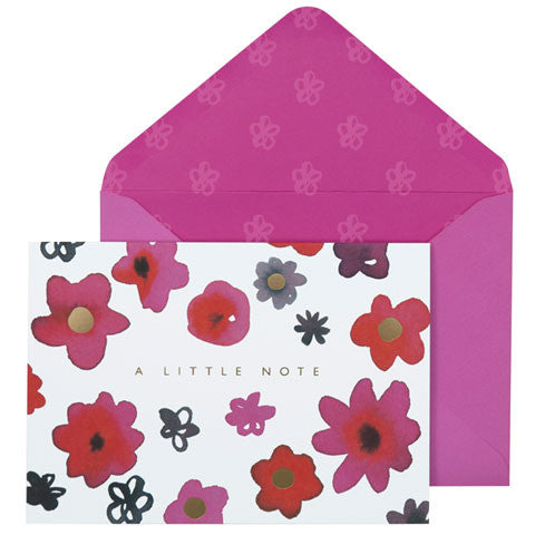 'A Little Note' Inky Flower Notecards