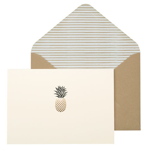 Pineapple Embossed Notecards