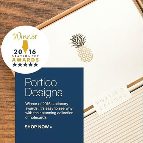 Portico Designs Pineapple Notecards Winner 2016 London Stationery Show Social Stationery