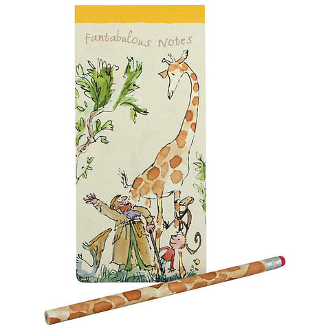 Roald Dahl Slim List Pad and Pencil